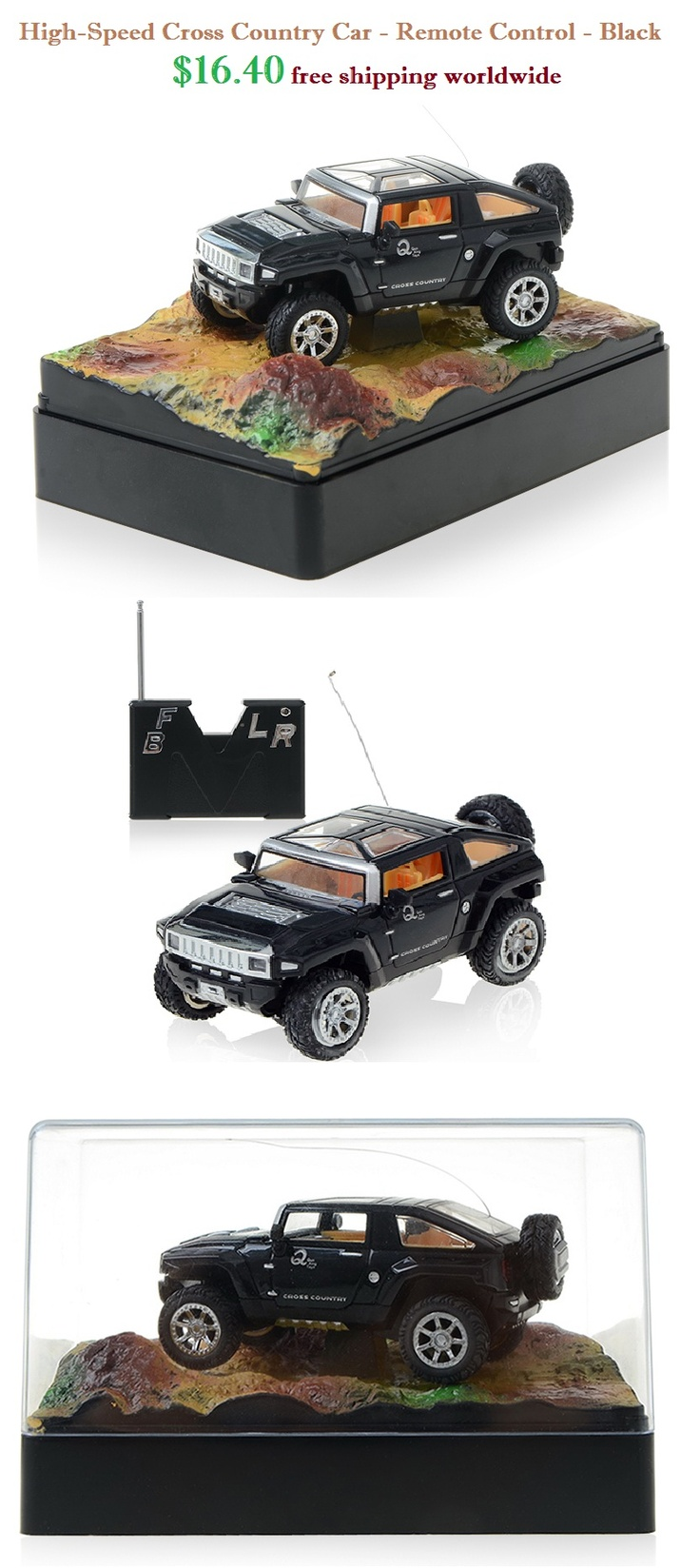 High-Speed Cross Car - Remote Control - Black Off Road Car #speed #cross #car #remote #control #offroad $16.40