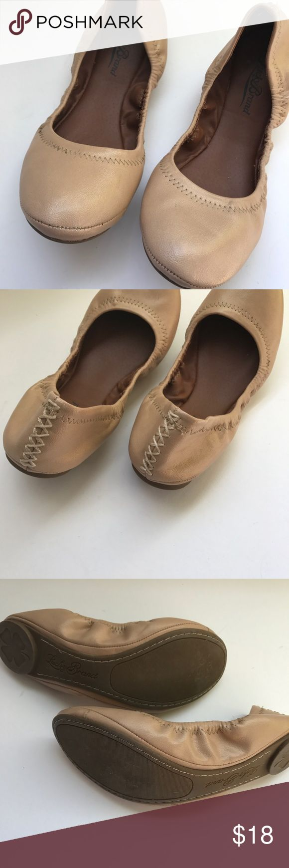 Lucky Brand Shimmer Ballet Flats // 7.5 Lucky Brand Shimmer Gold/Camel Ballet Flats. Worn only twice. Size is not marked but fits a 7.5 Lucky Brand Shoes Flats & Loafers