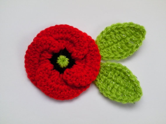 Knitting Pattern For Poppy Flowers : Crochet Poppy Crochet Pinterest Poppies, Crochet and Leaves