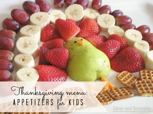 Thanksgiving recipe round-up: appetizers + holiday cocktails  {Handcrafted Parties}: Thanksgiving Ideas, Thanksgiving Food, Holiday Food, Gobble Gobble, Fruit Turkey, Kid, Thanksgiving Snack
