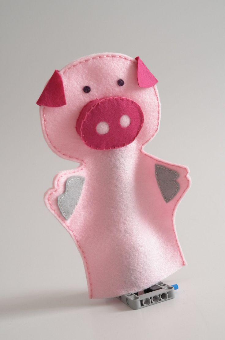 Pink pig - pig, toy, plush pig, pig plush, soft toy, kids toy, farm animal toy - by KinkinPuppets on Etsy