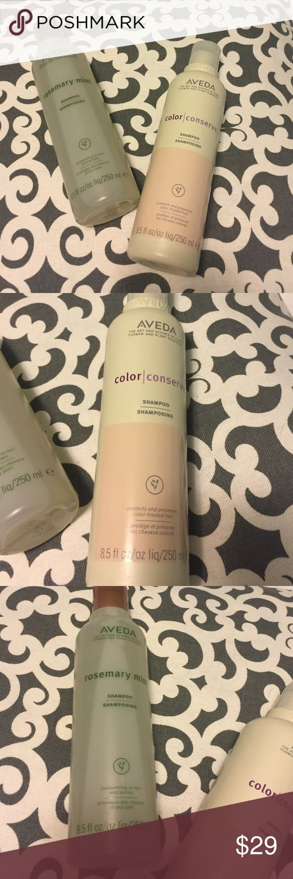 Color Conserve & Rosemary Mint Aveda Shampoos One Color Conserve 8.5 oz Shampoo and One Rosemary Mint 8.5 oz Shampoo. Both brand new! This is a great price compared to retail! Aveda Other