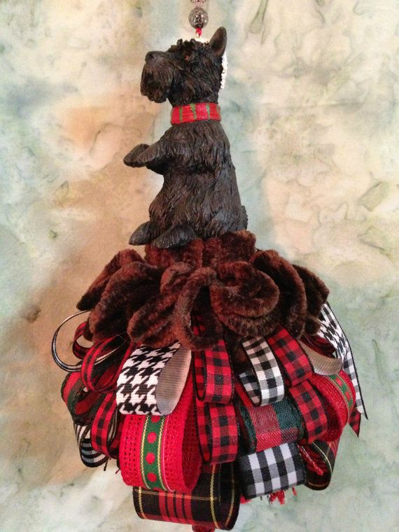 Scotty Dog Christmas Tassel