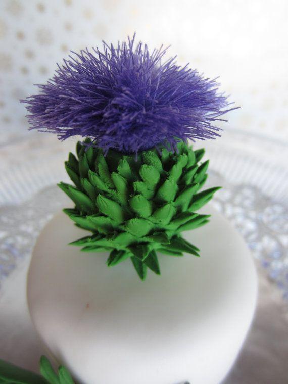 Scottish Thistle Cake Decorations