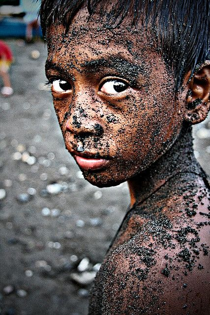 The Boy with Sand on His Face - Philippines - by Jeri Daking