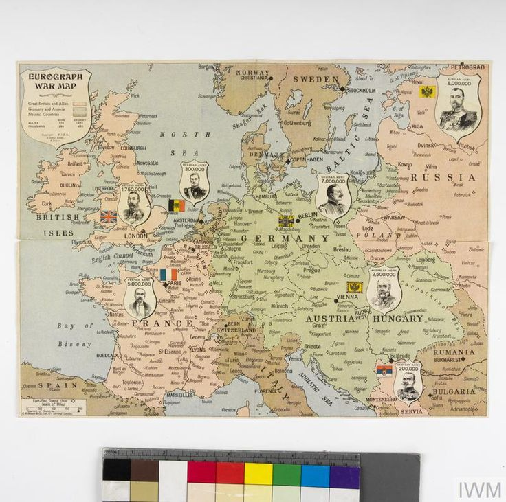 British Jigsaw Puzzle Map of Europe 1914