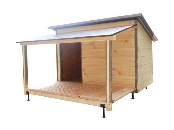 Niche pour chien : niche avec terrasse