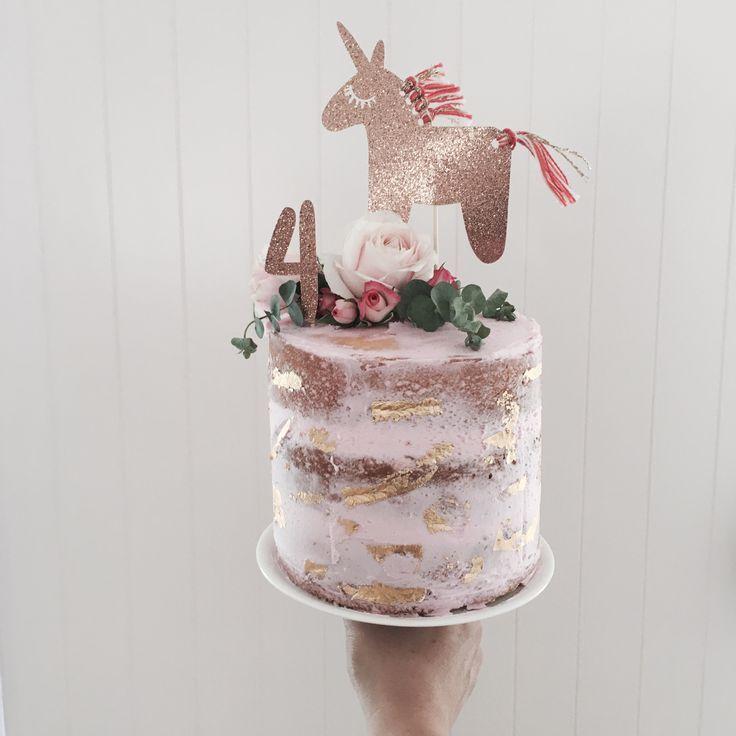 Tassel unicorn cake topper / Piccolo Studio