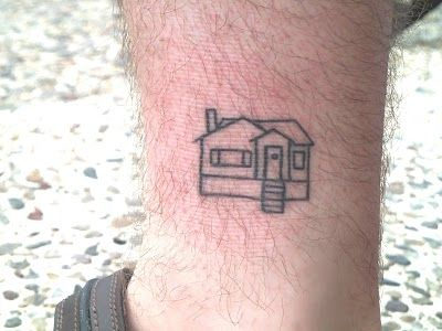 I like the idea of getting a simple outline of your house, as a memory of where it all started.