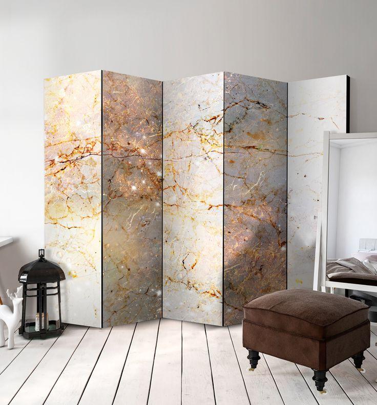 """Biombo decorativo """"Enchanted in Marble"""" (Encantado en marmol) es ideal para los interiores en el estilo industrial, urban jungle o tan de moda ultimamente estilo mid century modern. ツ"""