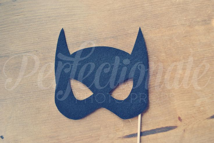 Super Hero Mask Prop Bat Girl Photo Prop Super Hero Photo-booth Super Hero Party (9.00 USD) by Perfectionate