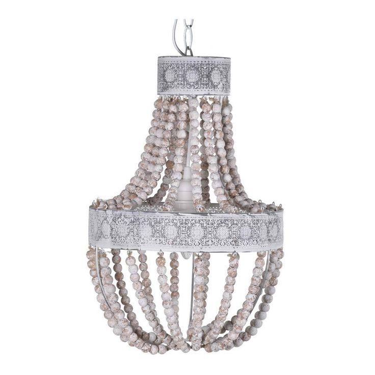 Wooden Beads Chandelier | Boho Beaded Pendant