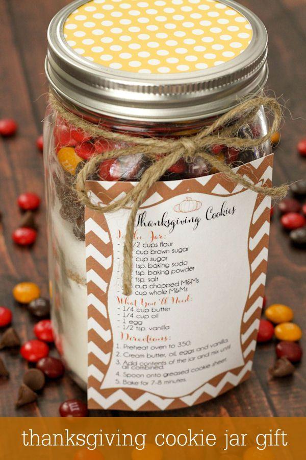 15 Cute Thanksgiving Gift Ideas Fun Squared Thanksgiving Cookies Mason Jar Cookies Mason Jar Cookies Mix