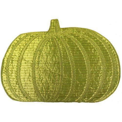 BNF Home Green Pumpkin Dining Table Place Mat 18in. x 13in. set of 6