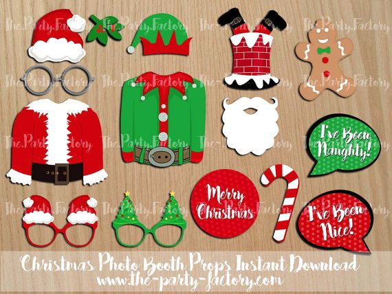Christmas Photo Booth Props Santa Claus von ThePartyFactoryWorld