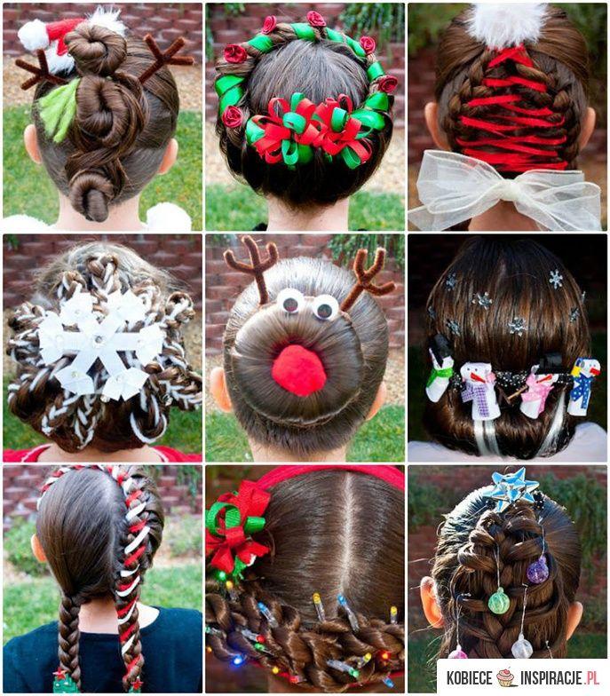 Świąteczne fryzury dla dzieci