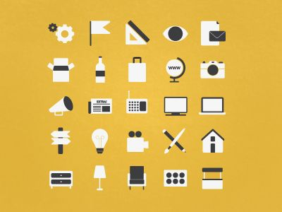 2 colour iconography (Pictograms)