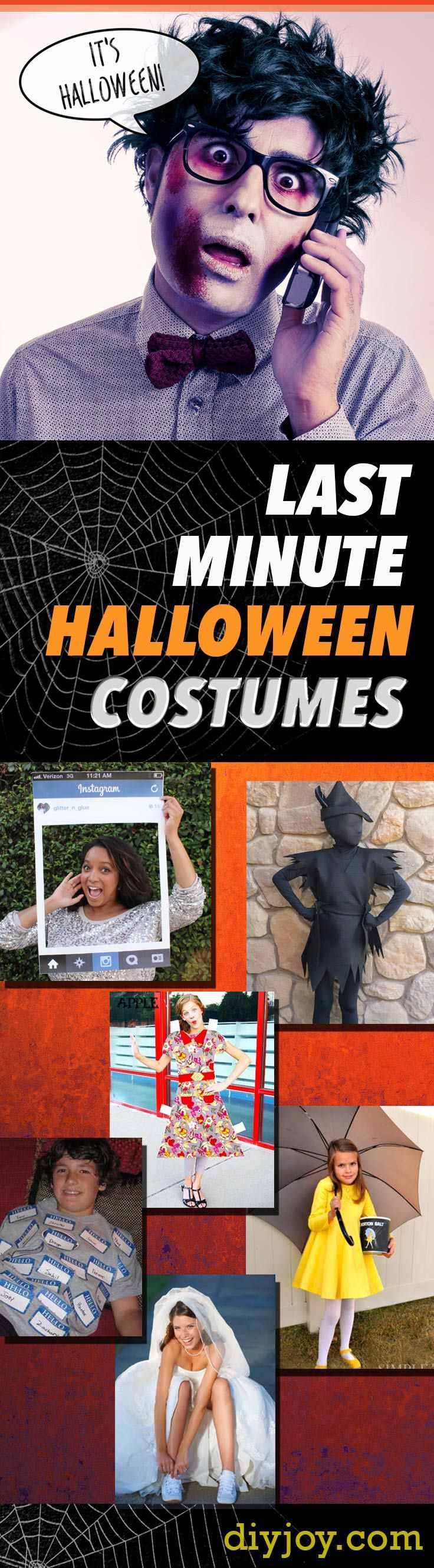 Last Minute Halloween Costumes -Quick Ideas for Couples, Kids, Babies, Men and Women