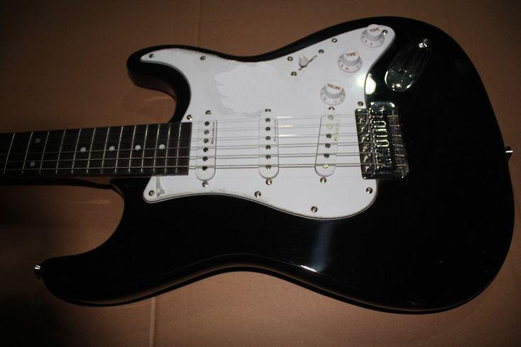 Factory store black ST rosewood fretboard 6 string Electric Guitar Guitarra