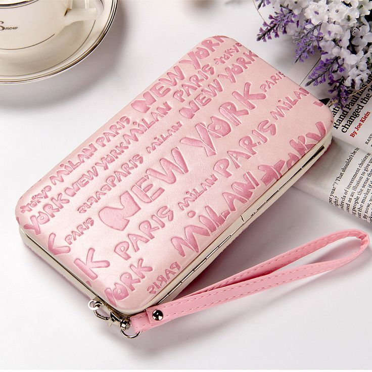 High Quality New Ladies PU Leather Wallets High Capacity Women's Letter Bag Famous Band Women Classic Coin Purse Clutch Wallet