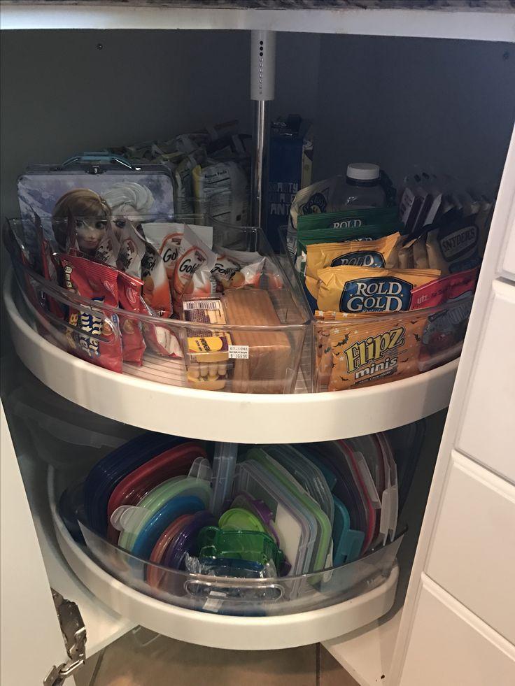 Organized Kitchen Lazy Susan Interdesign Cabinet Binz