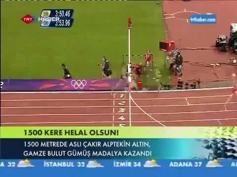 1. Aslı Çakır Alptekin  & 2. Gamze Bulut from TURKEY / London 2012 Olympic Games Women's 1500 m. final