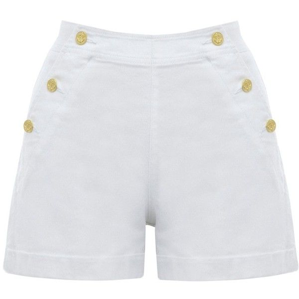 Oasis Sailor short (€11) ❤ liked on Polyvore featuring shorts, bottoms, short, pants, nautical, nautical shorts, oasis shorts, short shorts and sailor shorts