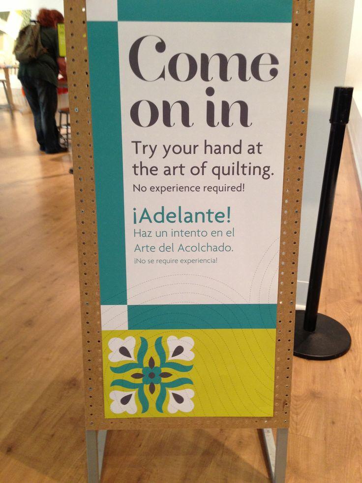 Denver Art Museum friendly signage.
