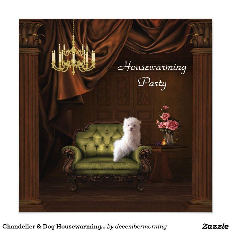Chandelier u0026 Dog Housewarming Party Invitation 73