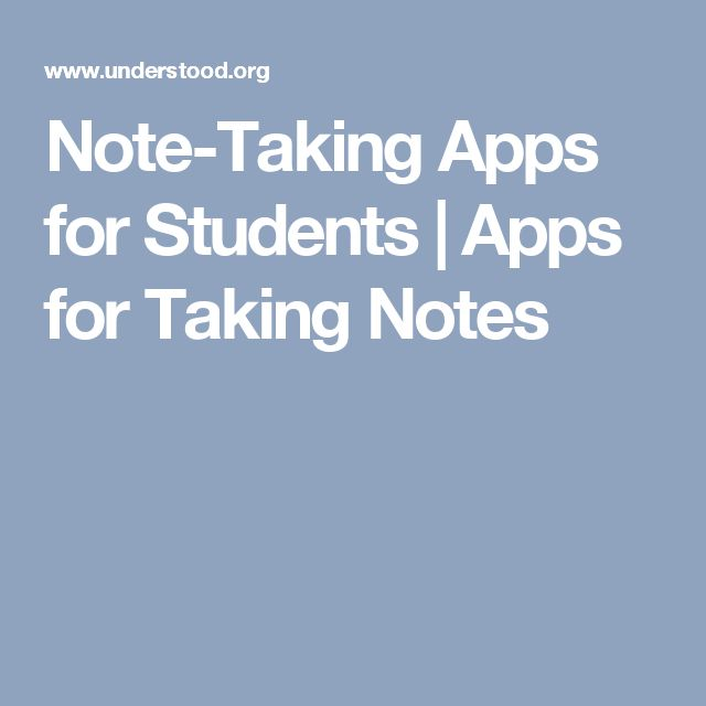 Note-Taking Apps  for Students | Apps for Taking Notes
