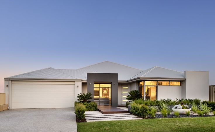 The Imperial's stunning elevation has a rendered facade, feature blade wall and Colorbond roof