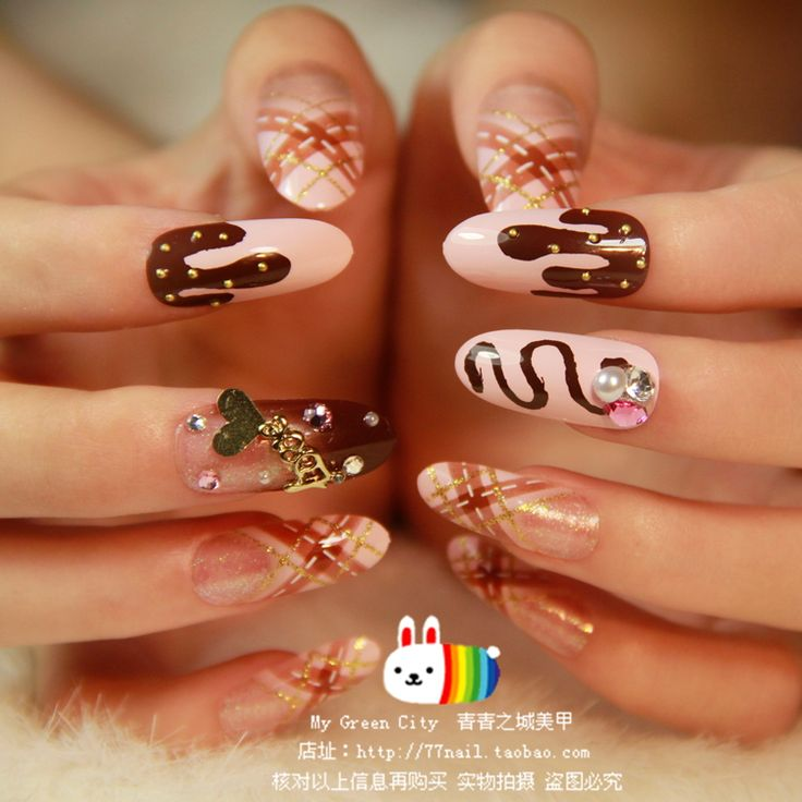 Aliexpress.com : Buy NEW 2013 High Quality Chocolate round long design acrylic Nails/False Nails/Fake Nail/Nail Tips,24 pcs with glue,Free Shipping from Reliable false nail extensions suppliers on Jessie's shop. $14.80
