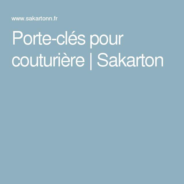 Porte-clés pour couturière | Sakarton