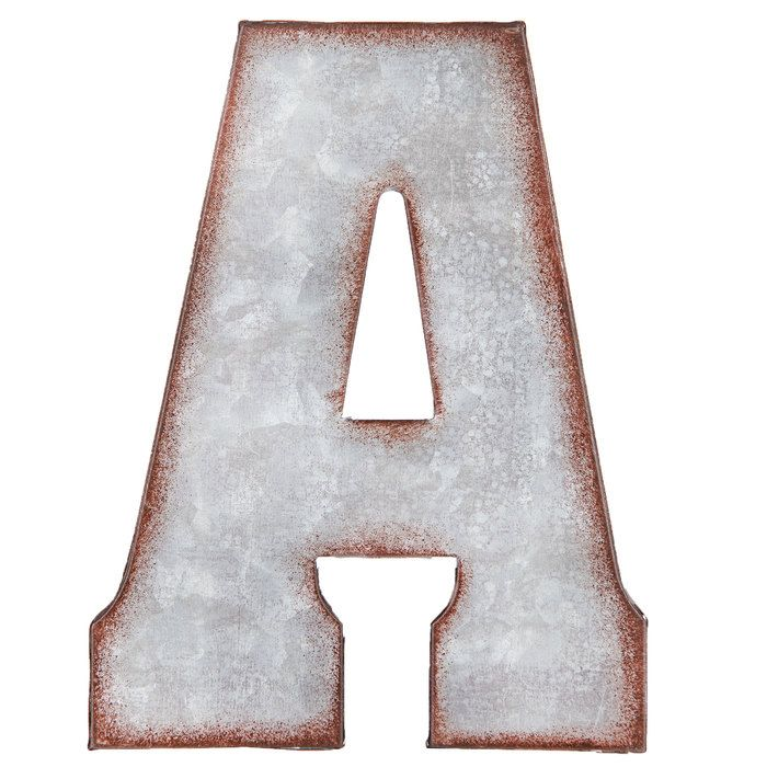 Galvanized Metal Letter Wall Decor A Metal Wall Letters Metal