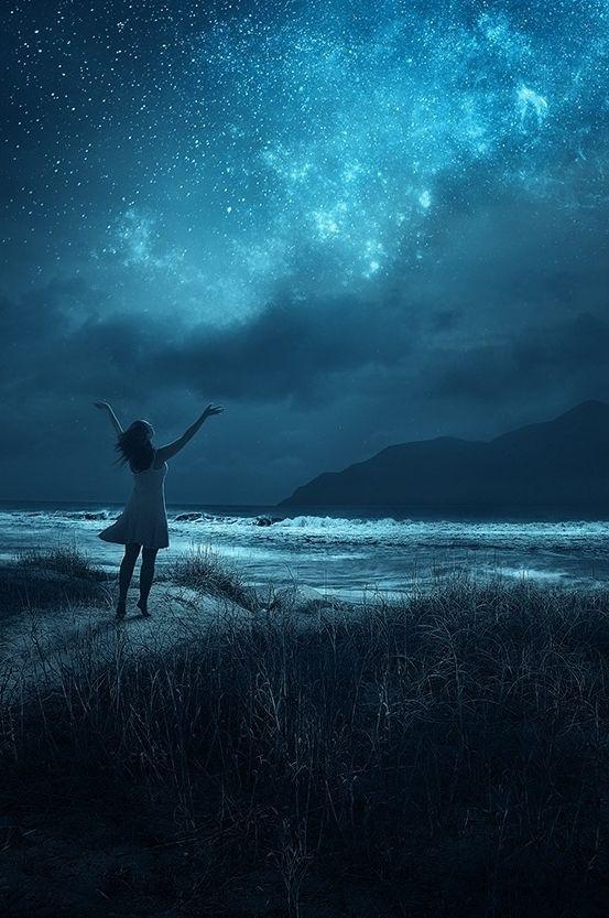 Midnight Prayer... embrace the starry night   byKevin Carden
