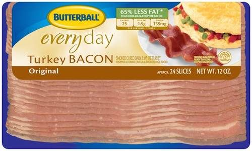 Bacon! Get Butterball Turkey Bacon Only $0.74 At Walgreens With Printable Coupon Through 10/24!