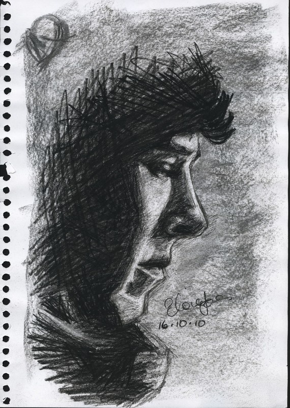 LOVE THIS. Awesome charcoal sketch of Sherlock (Benedict Cumberbatch) $97.83
