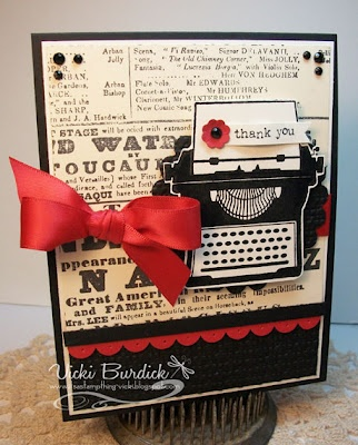 Stampin' Up! SU by Vicki Burdick, It's a Stamp Thing ~ reminds me of my Valentine card for the boys, love it!