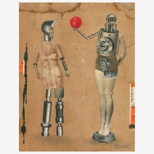 Couple 1010 11x14 now featured on Fab.: Century Art, Artists, Couple 1010, David Plunkert, Collage, 1010 11X14, Products, Design