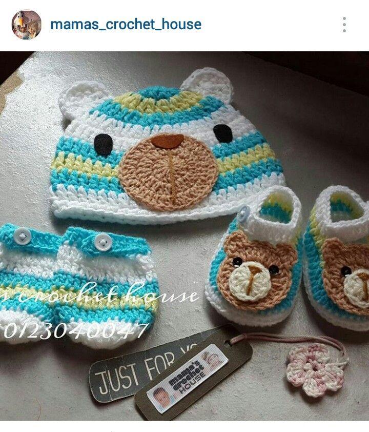 68 besten Crochet baby beanie/bootie set ideas #1 Bilder auf ...