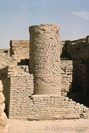 UNESCO World Heritage Site -  Archaeological Ruins at Moenjodaro, Pakistan dating from the 3rd century B.C.