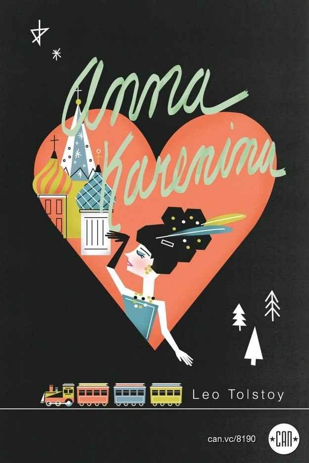 Anna Karenina | 25 Beautifully Redesigned Classic Book Covers
