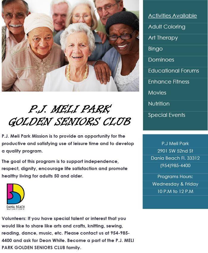 Dania Beach Calendar - Golden Seniors…- daniabeachfl gov