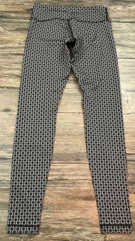 11ff3f8e65b8a0 Lululemon Wunder Under Pants Full On Luon Tri Geo Silver Spoon Black Sz 6*  | eBay