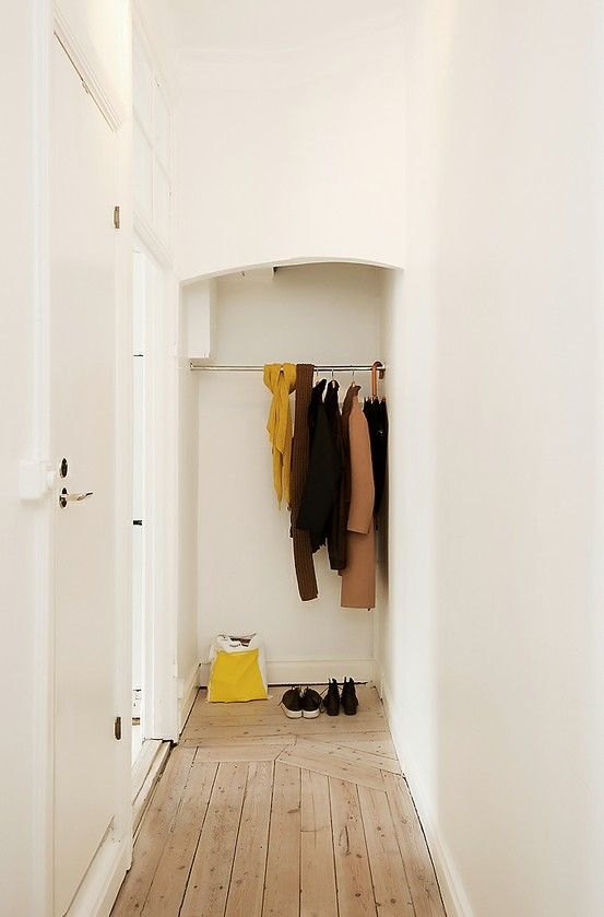 Minimalism at its finest. Good size for a coat closet, however, who would ever be able to fit an entire wardrobe in there?!