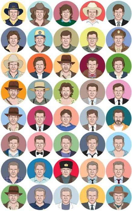 the many movie roles of Harrison Ford