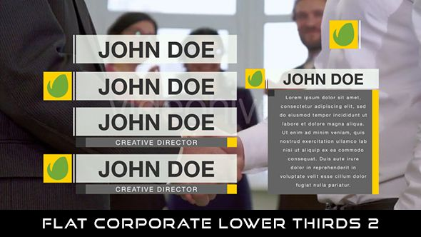 Flat Corporate Lower Thirds 3  6 Lowerthirds | Full HD 1920×1080 | Quicktime PNG alpha codec | Each 10 seconds.  Download it here : https://videohive.net/item/flat-corporate-lower-thirds-3/20037870  If you love my work, don't forget to rate it. Thank you.  #envato #videohive #motiongraphic #aftereffects #broadcast #business #caption #color #corporate #elegant #flat #modern #presentation #professional #simple #television #text #youtube