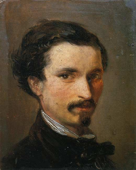 "Silvestro Lega: ""Self-portrait"", 1861"