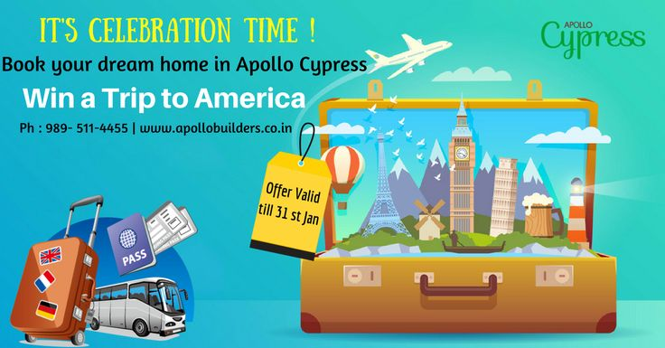 Dream more...Live more... Book your dream home in Apollo Cypress and fly to America.... #2 & 3 Bhk Apartments_near_Cyber_Park #Apollo_Cypress... Visit & Book now : https://goo.gl/BnmrGL