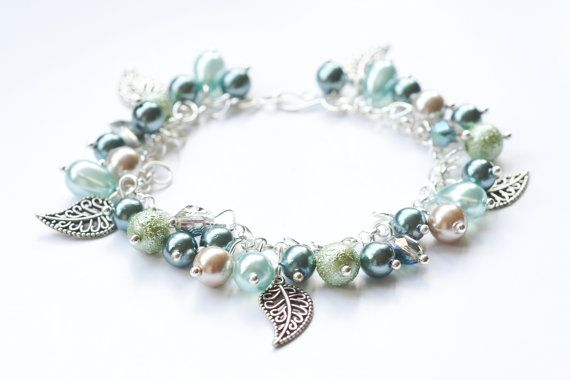 Charm Bracelet with Leaves
